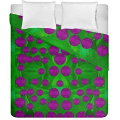 The Pixies Dance On Green In Peace Duvet Cover Double Side (california King Size) by pepitasart