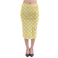Circles3 White Marble & Yellow Colored Pencil (r) Midi Pencil Skirt by trendistuff