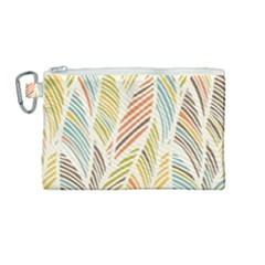 Decorative  Seamless Pattern Canvas Cosmetic Bag (medium) by TastefulDesigns