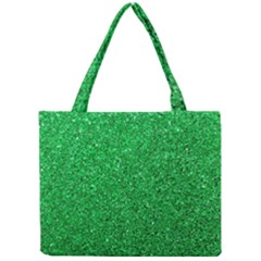 Green Glitter Mini Tote Bag by snowwhitegirl