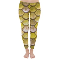 Yellow  Mermaid Scale Classic Winter Leggings by snowwhitegirl