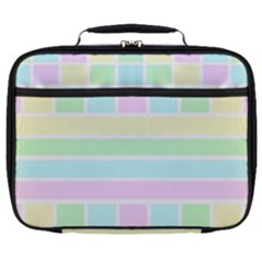 Geometric Pastel Design Baby Pale Full Print Lunch Bag by Nexatart