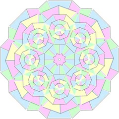 Color Wheel 3d Pastels Pale Pink Straight Umbrellas by Nexatart