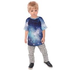 Nebula Blue Kids Raglan Tee
