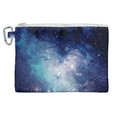 Nebula Blue Canvas Cosmetic Bag (xl) by snowwhitegirl