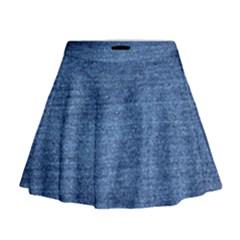 Blue Denim Mini Flare Skirt by snowwhitegirl