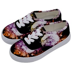 Awesome Eagle With Flowers Kids  Classic Low Top Sneakers by FantasyWorld7