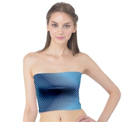 Converging Lines Blue Shades Glow Tube Top by Nexatart