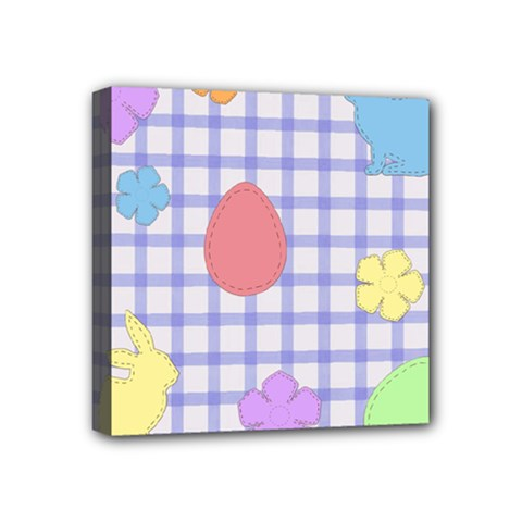 Easter Patches  Mini Canvas 4  X 4  by Valentinaart