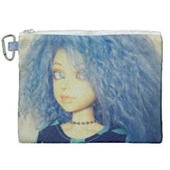 Blue Hair Boy Canvas Cosmetic Bag (xxl) by snowwhitegirl