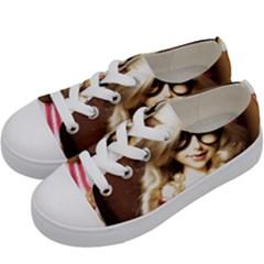 Cover Girl Kids  Low Top Canvas Sneakers by snowwhitegirl