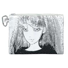 Girl Canvas Cosmetic Bag (xl) by snowwhitegirl