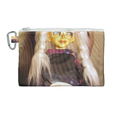 Eating Lunch Canvas Cosmetic Bag (large) by snowwhitegirl
