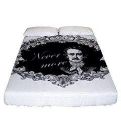 Edgar Allan Poe    Never More Fitted Sheet (queen Size) by Valentinaart