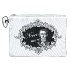 Edgar Allan Poe    Never More Canvas Cosmetic Bag (xl) by Valentinaart