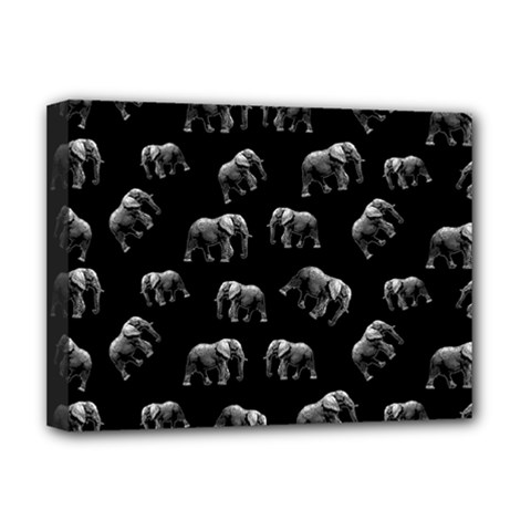 Elephant Pattern Deluxe Canvas 16  X 12   by Valentinaart