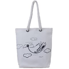 Bird Full Print Rope Handle Tote (small) by ValentinaDesign