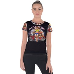 Route 66 Short Sleeve Sports Top