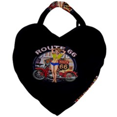 Route 66 Giant Heart Shaped Tote by ArtworkByPatrick