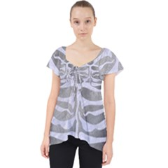 Skin2 White Marble & Silver Paint Lace Front Dolly Top