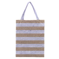 Stripes2white Marble & Sand Classic Tote Bag by trendistuff