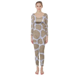 Skin1 White Marble & Sand (r) Long Sleeve Catsuit by trendistuff