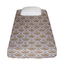 Scales2 White Marble & Sand Fitted Sheet (single Size) by trendistuff