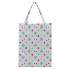 Stars Motif Multicolored Pattern Print Classic Tote Bag by dflcprints