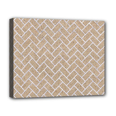 Brick2 White Marble & Sand Deluxe Canvas 20  X 16   by trendistuff