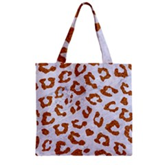 Skin5 White Marble & Rusted Metal Zipper Grocery Tote Bag by trendistuff