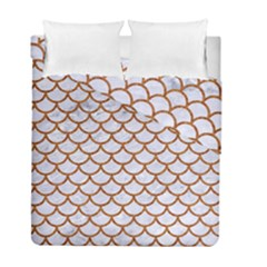 Scales1 White Marble & Rusted Metal (r) Duvet Cover Double Side (full/ Double Size) by trendistuff