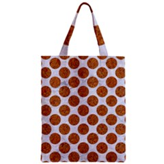 Circles2 White Marble & Rusted Metal (r) Zipper Classic Tote Bag by trendistuff