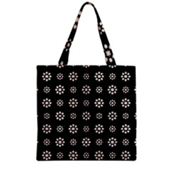 Dark Stylized Floral Pattern Grocery Tote Bag by dflcprints