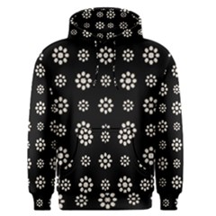 Dark Stylized Floral Pattern Men s Pullover Hoodie by dflcprints