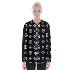 Dark Stylized Floral Pattern Womens Long Sleeve Shirt by dflcprints