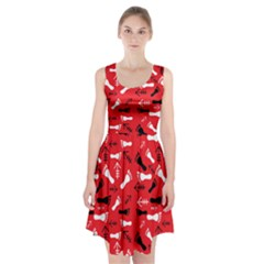 Red Racerback Midi Dress by HASHHAB