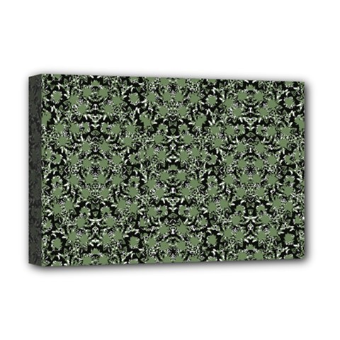 Camouflage Ornate Pattern Deluxe Canvas 18  X 12