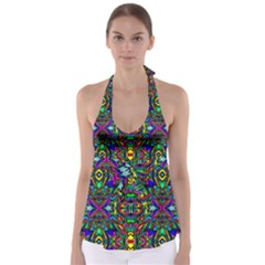 Artwork By Patrick Pattern 31 Babydoll Tankini Top