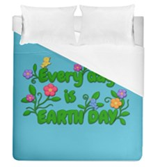 Earth Day Duvet Cover (queen Size) by Valentinaart