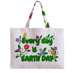 Earth Day Zipper Mini Tote Bag by Valentinaart