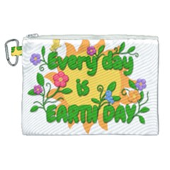 Earth Day Canvas Cosmetic Bag (xl)