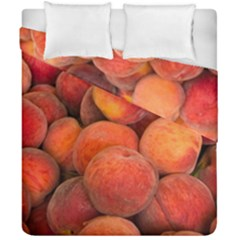 Peaches 2 Duvet Cover Double Side (california King Size) by trendistuff