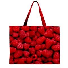 Raspberries 2 Zipper Mini Tote Bag by trendistuff