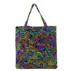 Artwork By Patrick Colorful 9 Grocery Tote Bag by ArtworkByPatrick