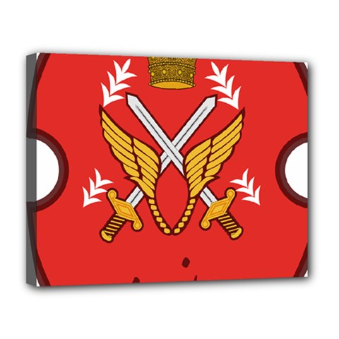 Seal Of The Imperial Iranian Army Aviation  Canvas 14  X 11  by abbeyz71