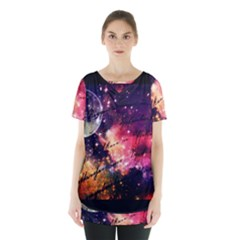 Letter From Outer Space Skirt Hem Sports Top