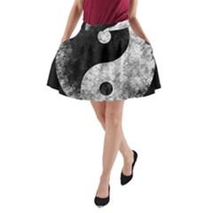 Grunge Yin Yang A Line Pocket Skirt