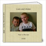 Liam and Aidan 2008 - 8x8 Photo Book (20 pages)
