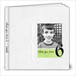 Isaiah at 6 - 8x8 Photo Book (20 pages)