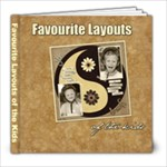 Favourite Layouts of the Kids - 8x8 Photo Book (30 pages)